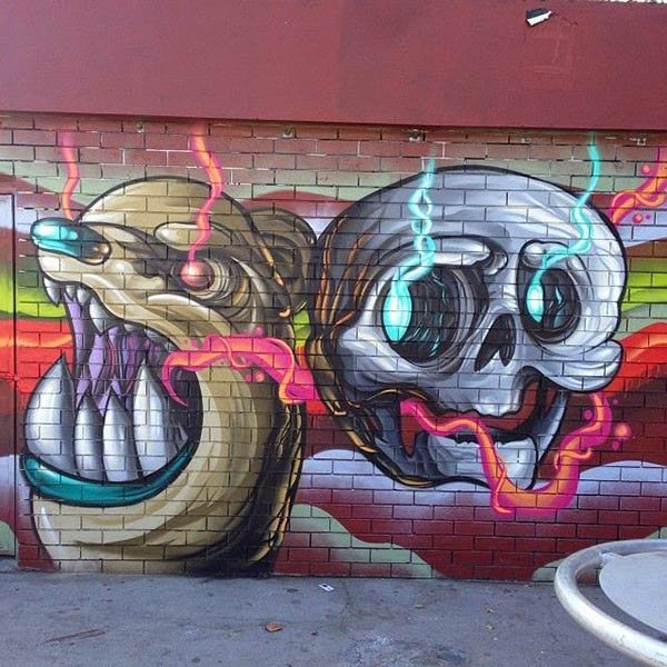 Cool street art characters by Jack Douglas