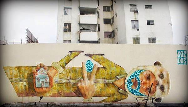 Mural by Koz Dos in Maracay, Venezuela