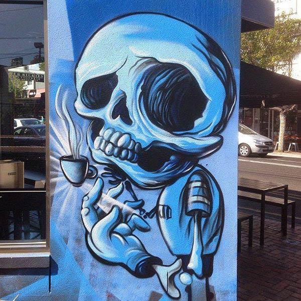 Street art character by Jack Douglas