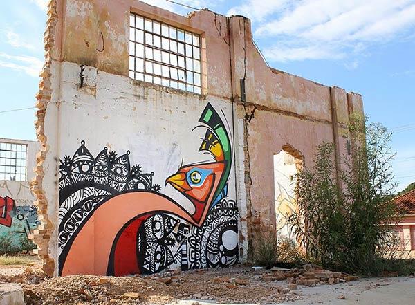 Street art in Brazil by Garu and PDA