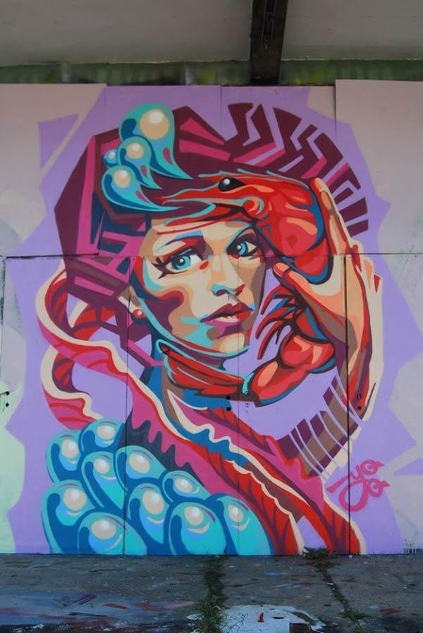 Great wall mural by YuBaba in Minsk