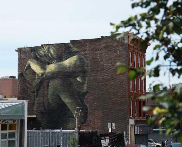 Street artist Faith 47 for Heliotrope