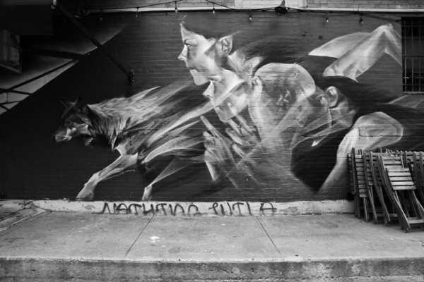 Street artist Li Hill for Heliotrope