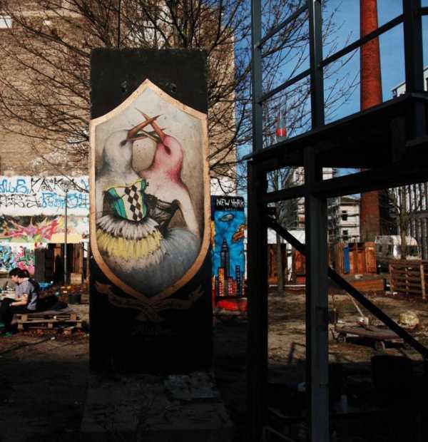 Street artist Miss Van for Heliotrope