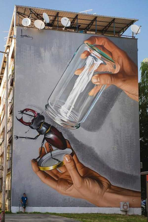 Awesome wall mural in Croatia by Lonac