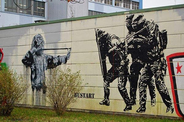 Street art in Basel, Switzerland by Bustart (Photo by Ortaku)