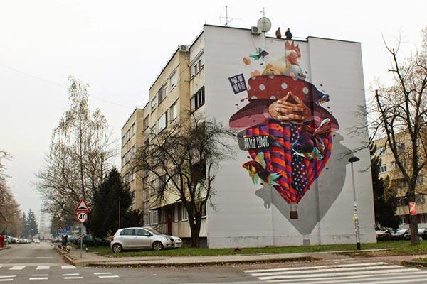 Street art in Bosnia and Herzegovina by artists Artez and Lonac