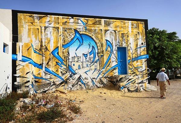Street art in Erriadh, Djerba, Tunisia by KATRE (Photo by KATRE)