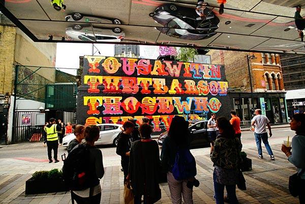 New work by Ben Eine at Village Underground to honour theGrenfell Tower victims