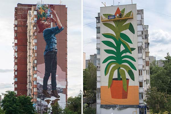Fintan Magee & Agostino Iacurci at Mural Social Club Festival Kiev