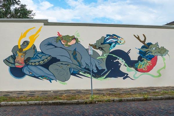Jose Mertz. Shine Mural Festival. St. Petersburg, Florida. October 2017. (photo © Iryna Kanishcheva)