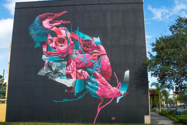 Joram Roukes. Shine Mural Festival. St. Petersburg, Florida. October 2017. (photo © Iryna Kanishcheva)