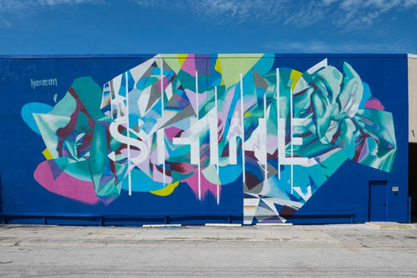 Hueman. Shine Mural Festival. St. Petersburg, Florida. October 2017. (photo © Iryna Kanishcheva)
