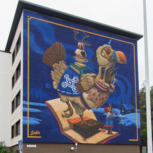 Urban art by Dulk for UPEA Street Art Festival 2017 in Finland (photo by Tomi Salakari)