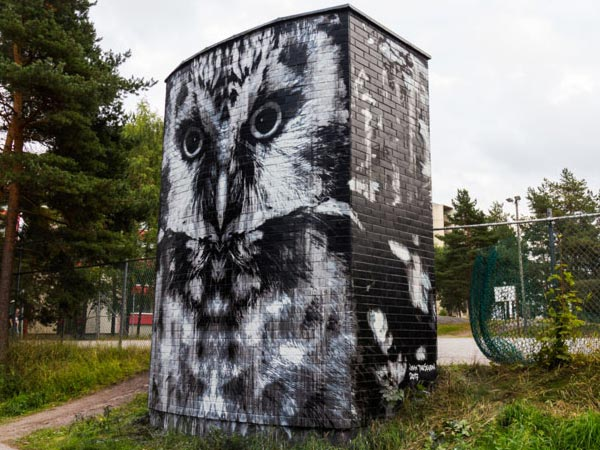 Urban art by Jussi27 for UPEA Street Art Festival 2017 in Finland (photo by Anssi Huovinen)