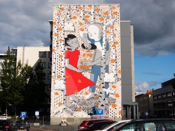 Urban art by Millo for UPEA Street Art Festival 2017 in Finland (Photo by John Blåfield)