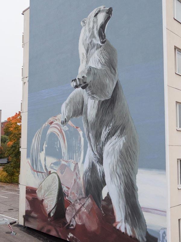 Urban art by Onur for UPEA Street Art Festival 2017 in Finland (photo by John Blåfield-Valmis)
