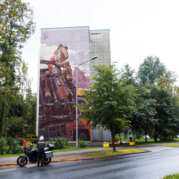 Urban art by Pat Perry for UPEA Street Art Festival 2017 in Finland (photo by Tomi Salakari)