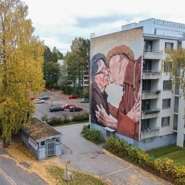 Urban art by Teemu Mäenpää for UPEA Street Art Festival 2017 in Finland (photo by Tomi Salakari)