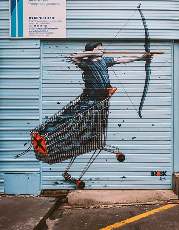 Cool street art by Brusk from 2014
