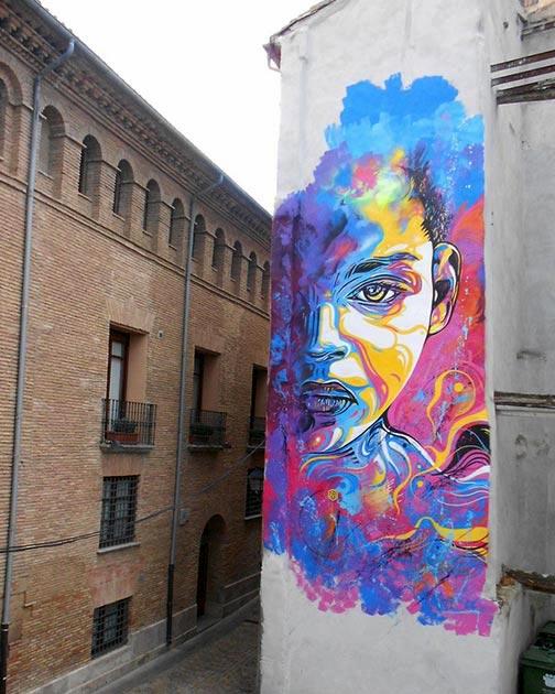 Cool Street Art - C215 in Tudela, Navarra, Spain