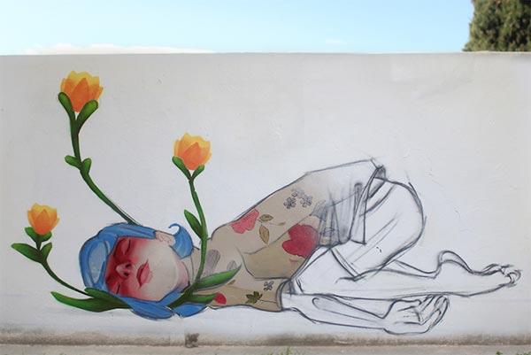 Beautiful urban art by Cheko