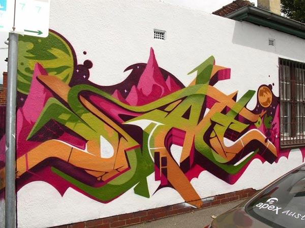 Cool Street Art - Dean Sunshine (Land of Sunshine) in Melbourne, Australia
