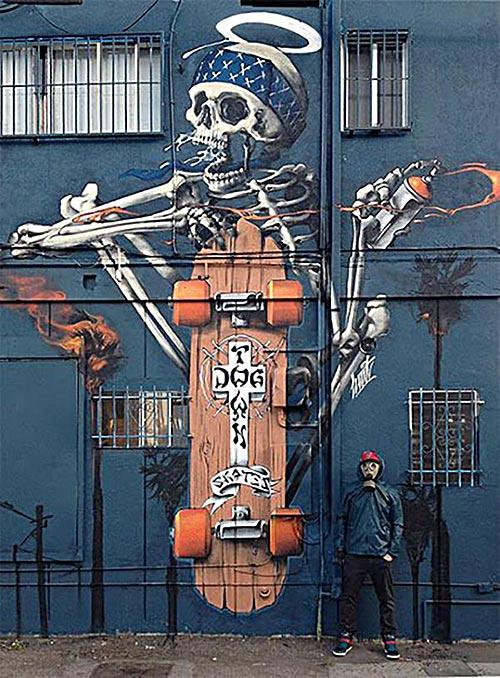 Cool Street Art - Dog Town Skates by HUIT