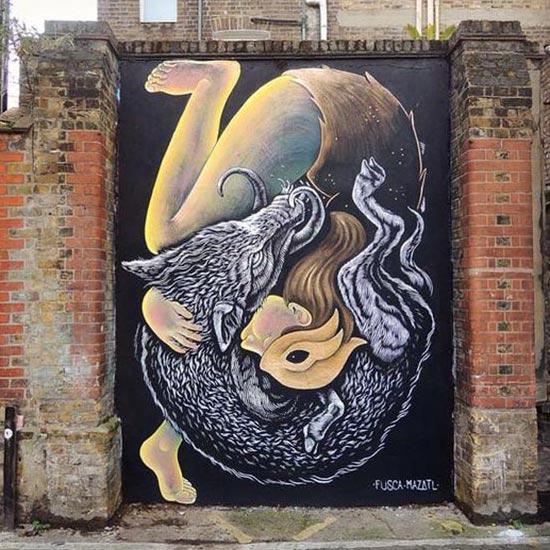 Cool Street Art - Street art by Fusca & Mazatl in London, UK