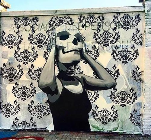 Street art by Sm172 in Poblenou, Barcelona, Spain (2016)