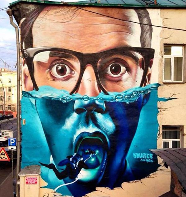Cool Street Art - Street art by Smates in Moscow, Russia (2014)