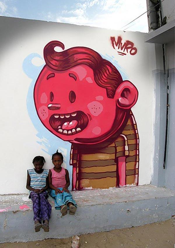 Street art in Senegal by Muro