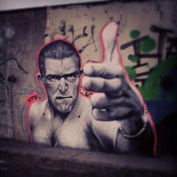 Cool Street Art - Street art portrait by MTO