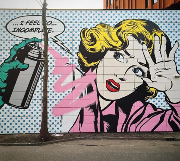 Cool Street Art - dface in Amsterdam, Holland