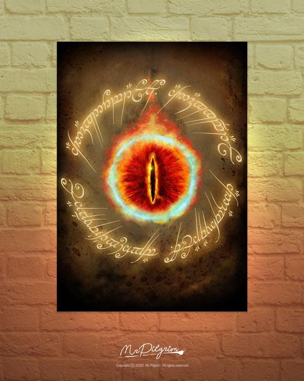 Lord of the Rings fan made Eye of Sauron Poster by UK artist MrPilgrim