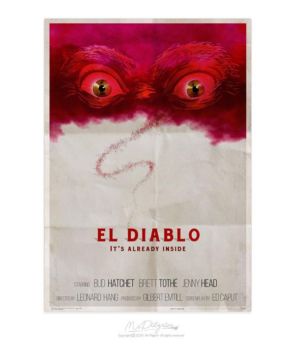 Retro horror movie poster by UK artist MrPilgrim
