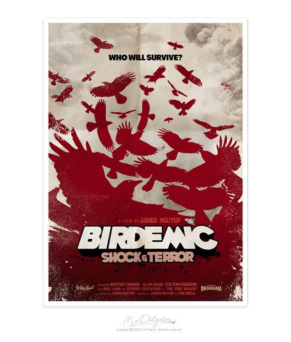 Original Fan Made Poster Art : Birdemic Shock and Terror