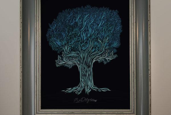 "MrPilgrim Original Art ""Tree of Whispers"""