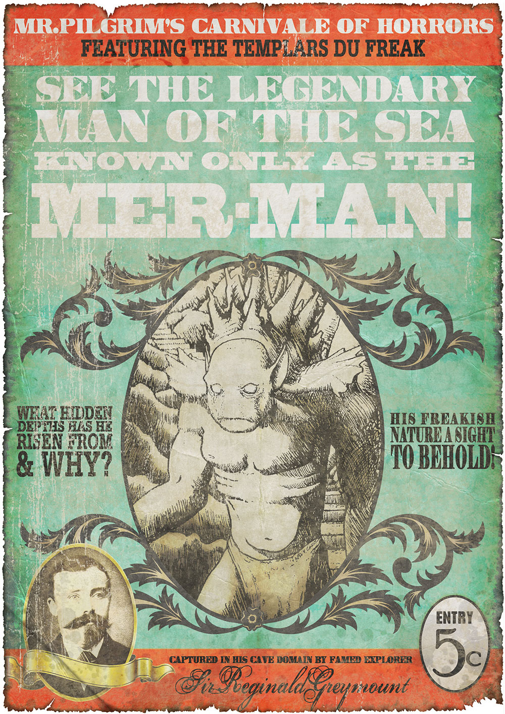 Creatures of the Lost Continent : The Mer-Man Poster Design