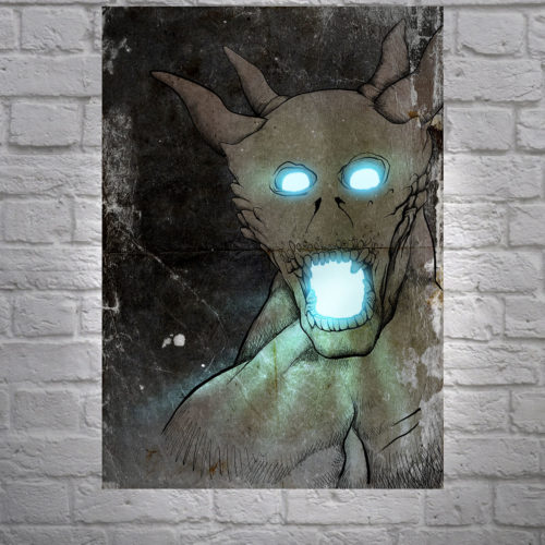"Original Art ""Horny Dude"" Mr Pilgrim UK artist"