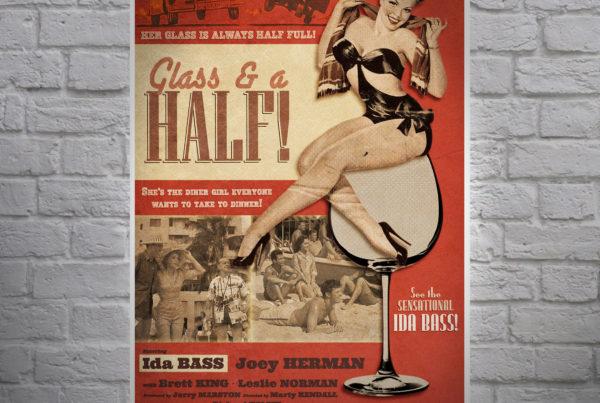 Mr Pilgrim Art Retro Poster Design Glass and A Half