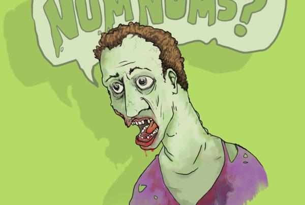 Zombie NumNums Mr Pilgrim Art